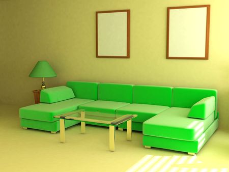 jalousie: Interior in light tones sofa table window jalousie