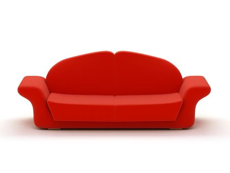 modules: big folding sofa from several interchangeable modules Stock Photo