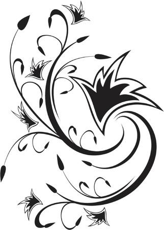 scroll design Stock Vector - 951577