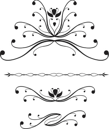 scroll design Vector