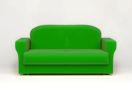 sofa on white background insulated 3d photo