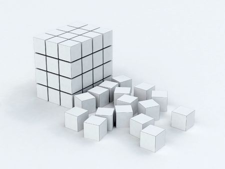 Some cubes are collected in a design which fall photo