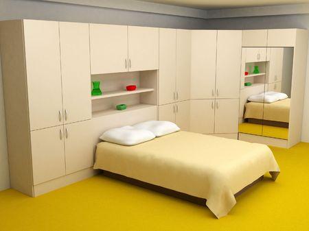 cosy bedroom interior 3d Stock Photo - 1980124
