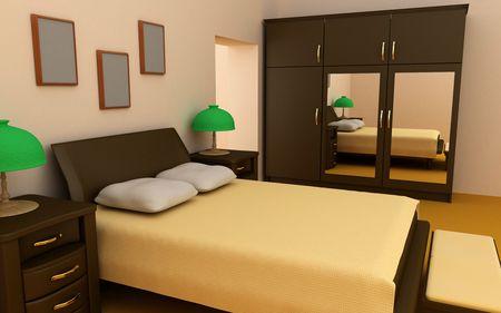 cosy bedroom interior 3d Stock Photo - 1980140