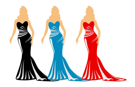 Fashion silhouettes with purses Stock Vector - 4174128