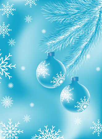 christmastree: Christmas blue background drawn in a vector