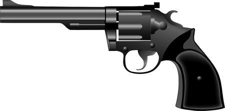 pistol revolver vector Vector