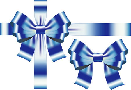 Bow blue ribbon. Vector Stock Vector - 6003516
