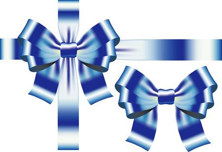 Bow blue ribbon. Vector Stock Vector - 6003516