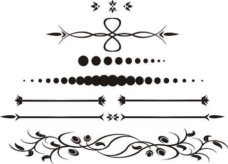 create: Calligrafiche cifre creato per la registrazione di pagine, libri, diplomi  Archivio Fotografico
