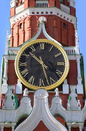 spasskaya: Spasskaya tower kremlin chimes Moscow Russia Stock Photo