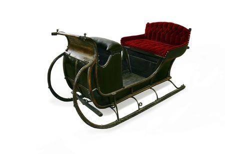 horse sleigh: Santas sleigh. Sesoning transportation of Lapland