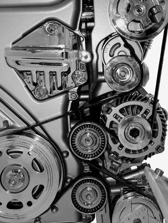 horsepower: Closeup of a modern car engine