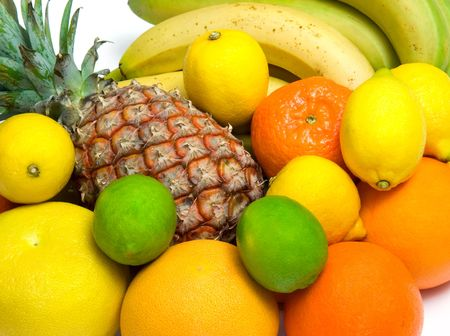 close-up view of some tropical fruits Stock Photo - 756388