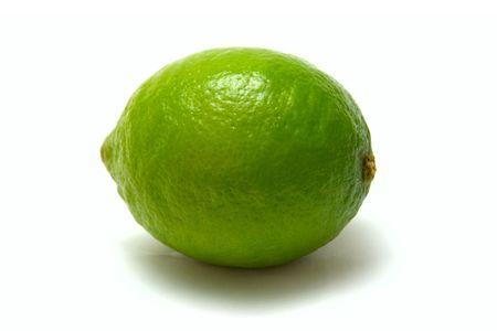bubble acid: isolated lime on white background Stock Photo