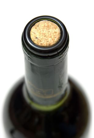 extreme close-up view of cork of wine bottle photo
