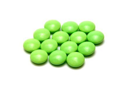 tonsillitis: some pills against white background