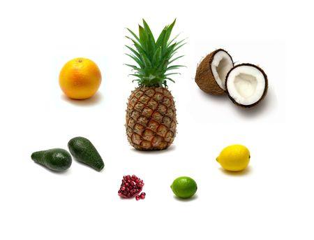 isolated pineapple on white background photo