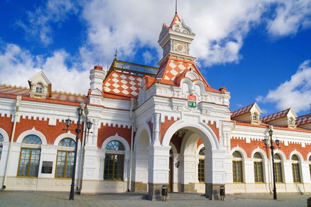 Building of old station in Ekaterinburg photo
