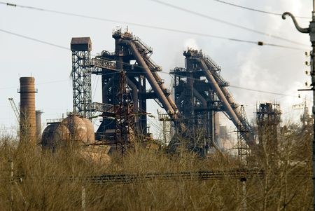 metallurgical: Iron and steel metallurgical Plant in different views
