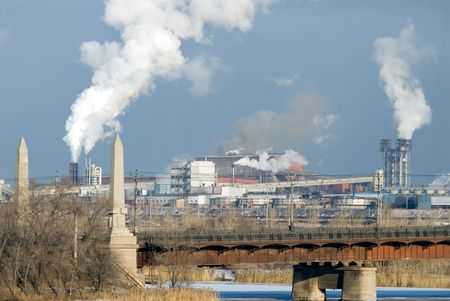 Iron and steel metallurgical Plant in different views