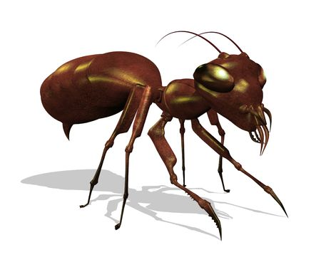An extreme close up of an ant - 3d render. Stock Photo - 7201938