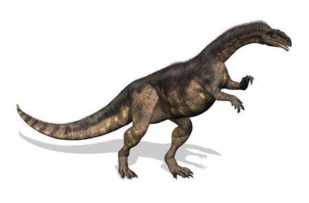 extinction: Plat�osaure dinosaure - 3D de rendre. Ce dinosaure a v�cu pendant la fin de la p�riode du Trias. Adultes mesur�e entre 16 � 33 pieds de long.