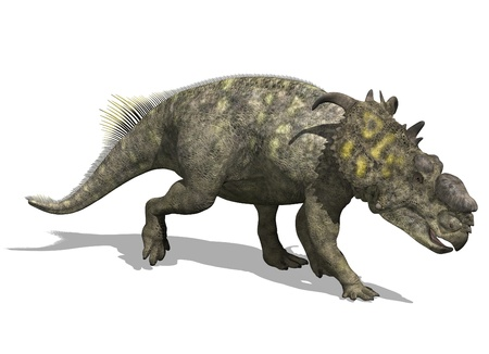 cretaceous: The pachyrhinosaurus, a dinosaur from the Late Cretaceous period - 3d render.