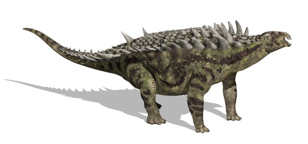 The Hungarosaurus lived during the Cretaceous period in Hungary - 3D render. Stock Photo