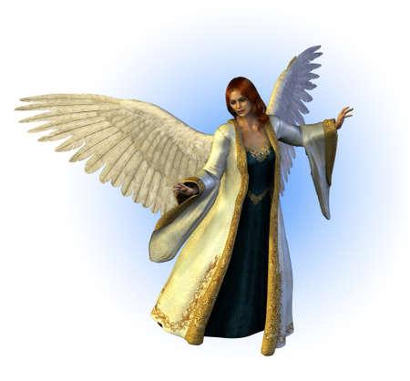 ange gardien: Ange céleste - Rendu 3D. Banque d'images