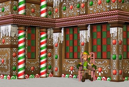 christmas house: Santa