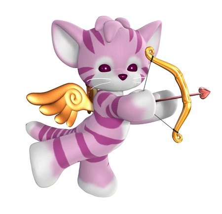 Cupid Kitty - 3D render
