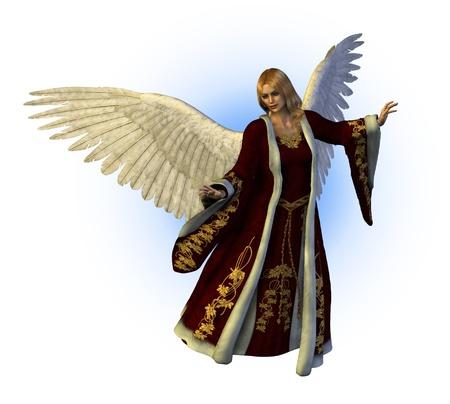 ange gardien: Ange de Noël - 3D render