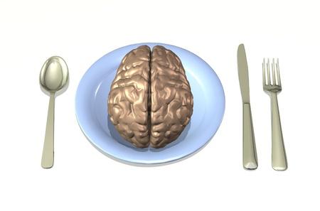 Brain Food - 3D render Stock Photo - 11193956