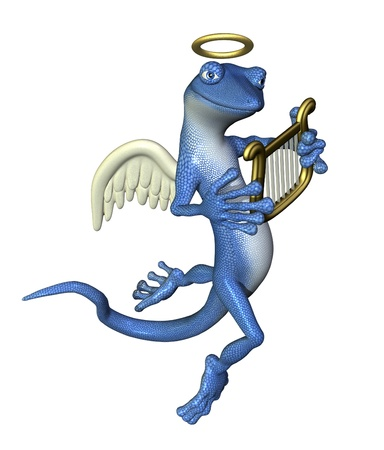 Angel Gecko - 3D render photo