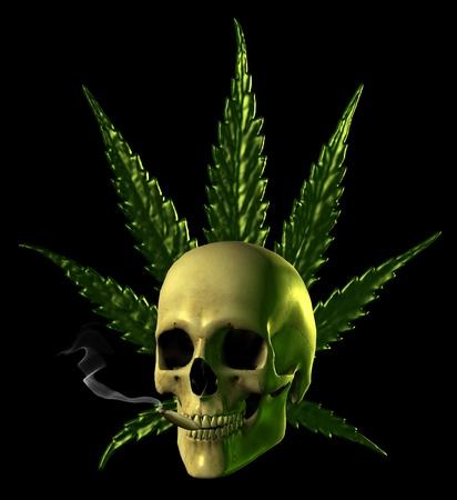 Cannabis Skull - 3D Render