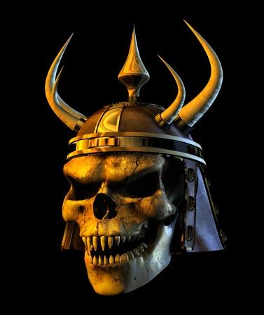 3D render of an evil demon skull. photo