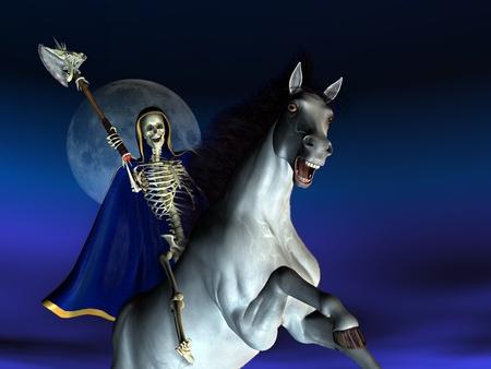 Death on Horseback - 3D render photo