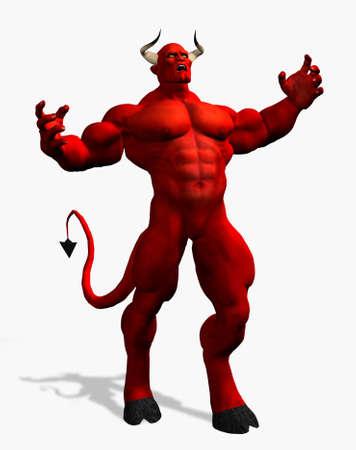 satanas: Enojado Diablo - 3D render