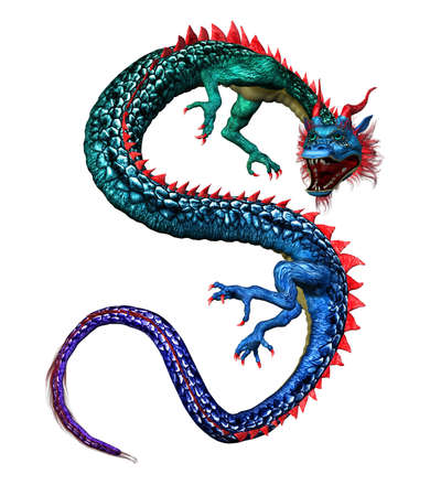 render: Colorful Oriental Dragon
