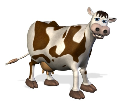 vaca caricatura: Vaca de dibujos animados - 3D render