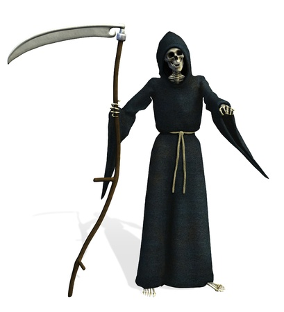 Grim Reaper - 3D render photo