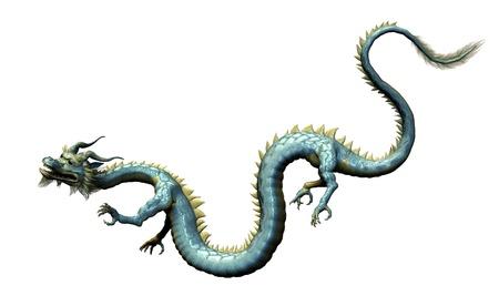 Oriental Dragon - Isolated on White Stock Photo