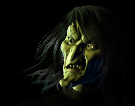 ugly woman: Hideous Witch - 3D render