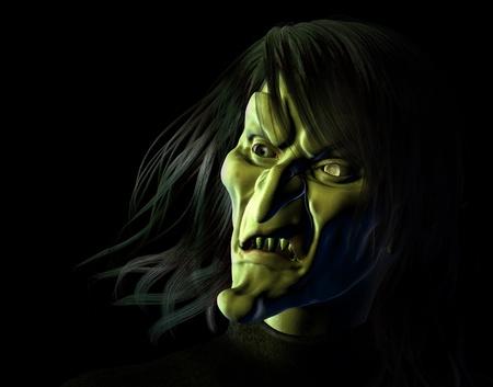 3d halloween: Hideous Witch - 3D render