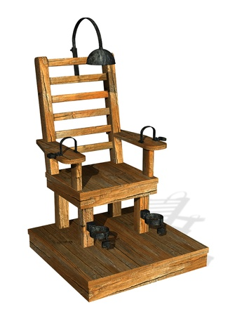 capital punishment: Electric chair - 3D render
