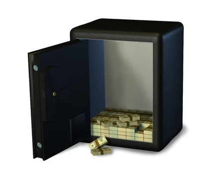 Open Safe with Money photo