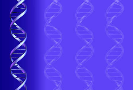 double helix: DNA Background - 3D render and graphic.