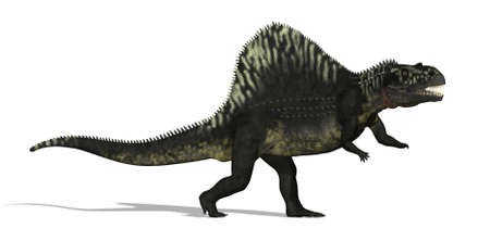 triassic: The Arizonasaurus, a dinosaur that lived in what is now Arizona, during the Middle Triassic period. 3D render. Stock Photo