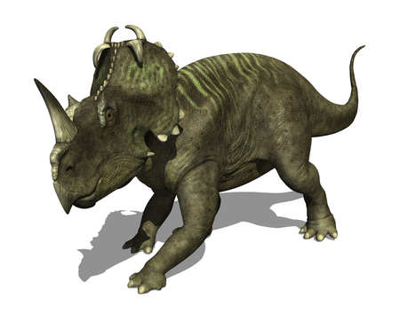 The Centrosaurus dinosaur lived during the Late Cretaceous period - 3d render  Stock Photo